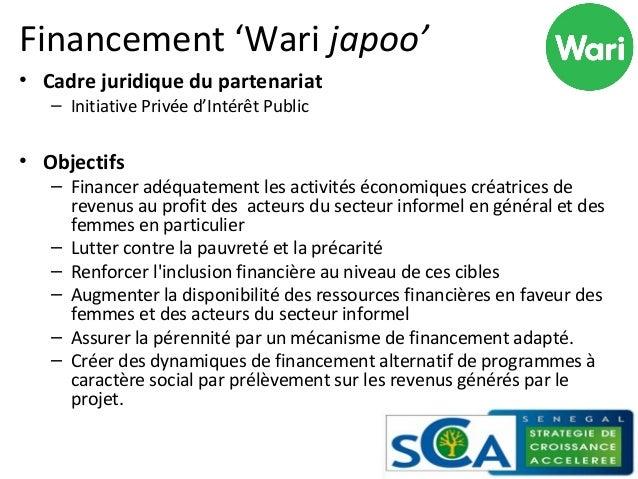 Financement 'Wari japoo'