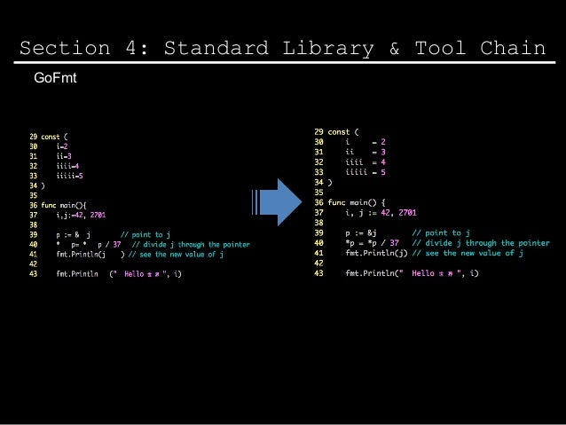 Section 4 Standard Library Tool Chain GoFmt