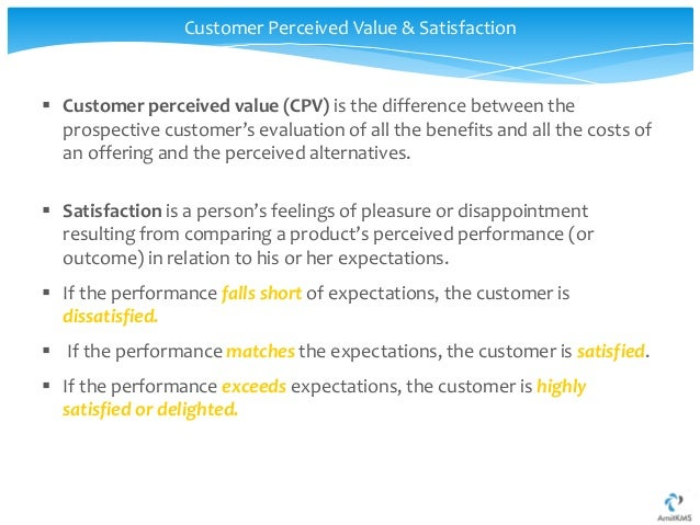 "customer satisfaction with services putting perceived value into the equation Customer perceived value research paper ""customer satisfaction with services: putting perceived value into the equation"", journal of services marketing."