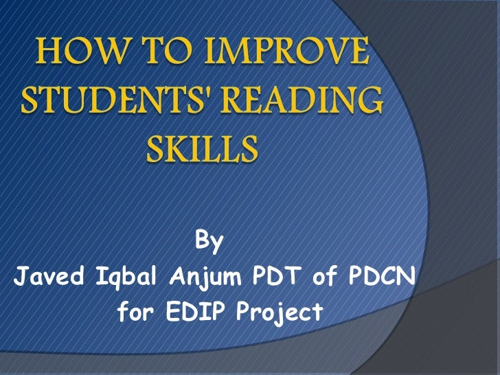 ByJaved Iqbal Anjum PDT of PDCN        for EDIP Project
