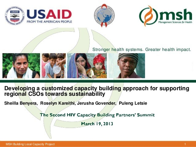 Stronger health systems. Greater health impact.Developing a customized capacity building approach for supportingregional C...