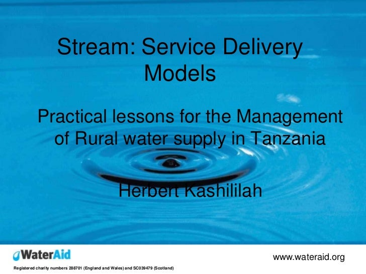 Stream: Service Delivery                             Models            Practical lessons for the Management              o...