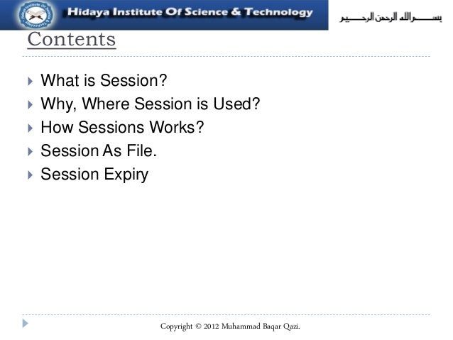 Sessions in php  Slide 2