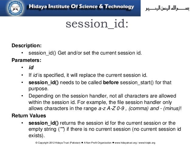 php session id