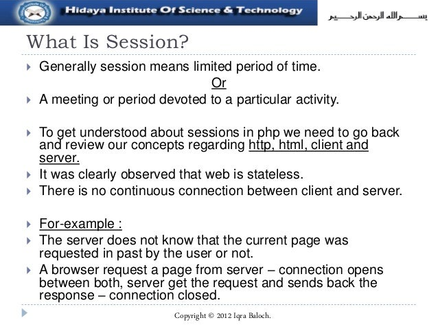 Sessions in php  Slide 3