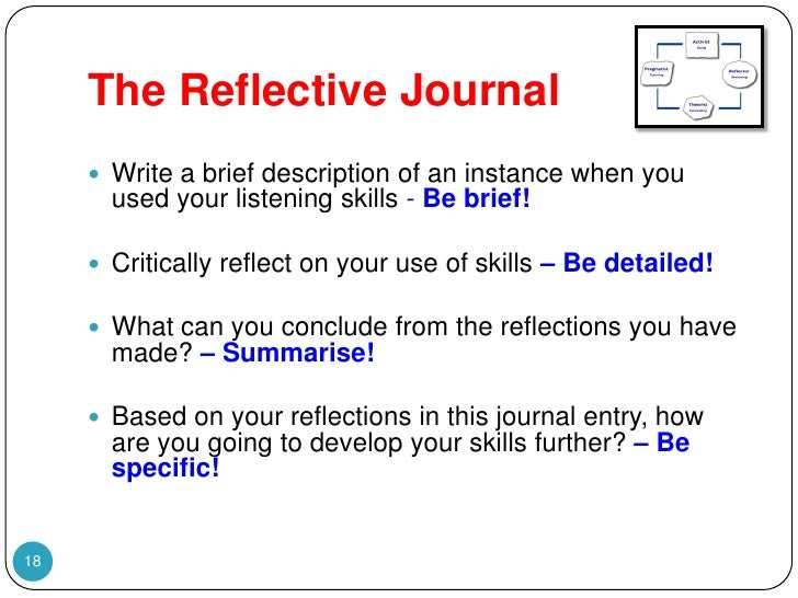 reflective journal of communication skills