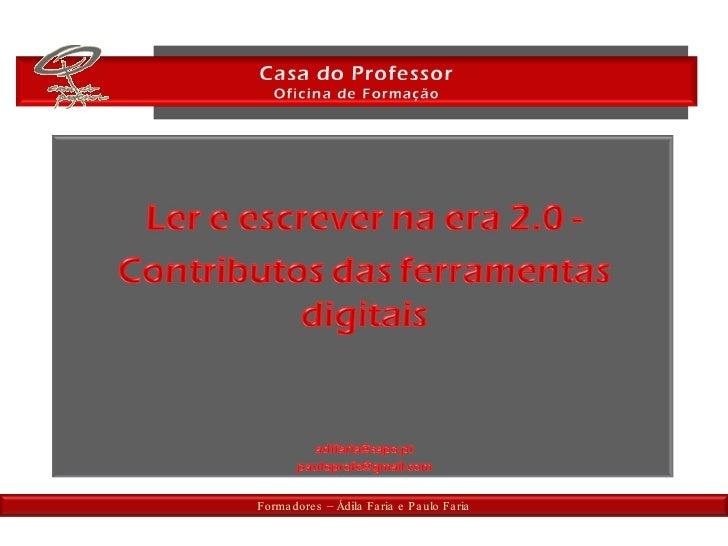 Formadores – Ádila Faria e Paulo Faria