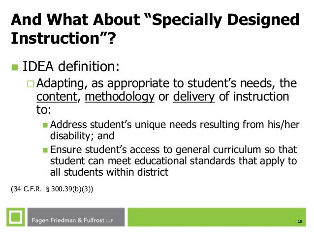 Ses Spring 2015 The Need For Special Ed