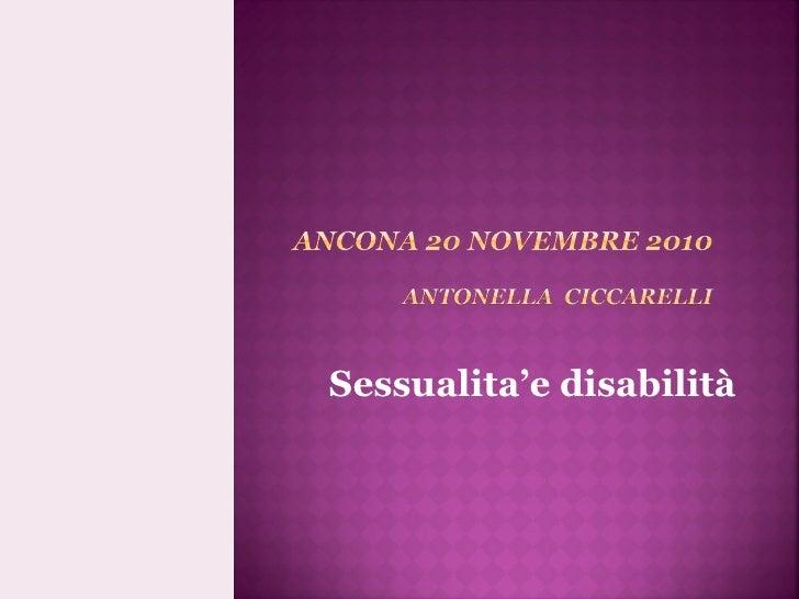 Sessualita'e disabilità
