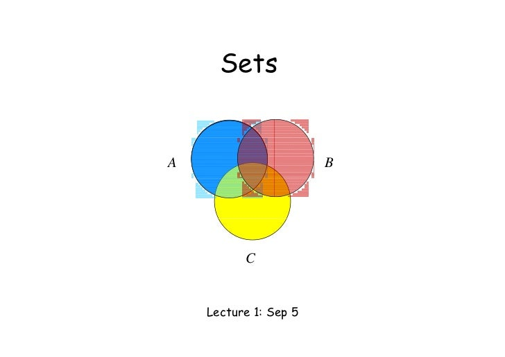 Sets      S tA                      B          C    Lecture 1: Sep 5