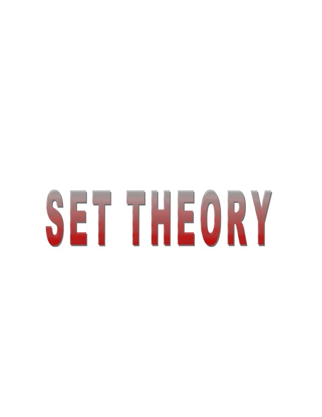 Set Theory is the mathematical science of the infinite. It studies properties of sets,abstract objects that pervade the wh...