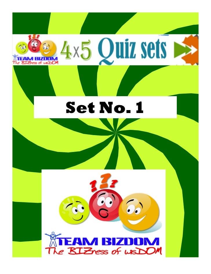 Set No. 1