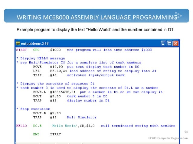 write an assembly language program to display hello world in 8051