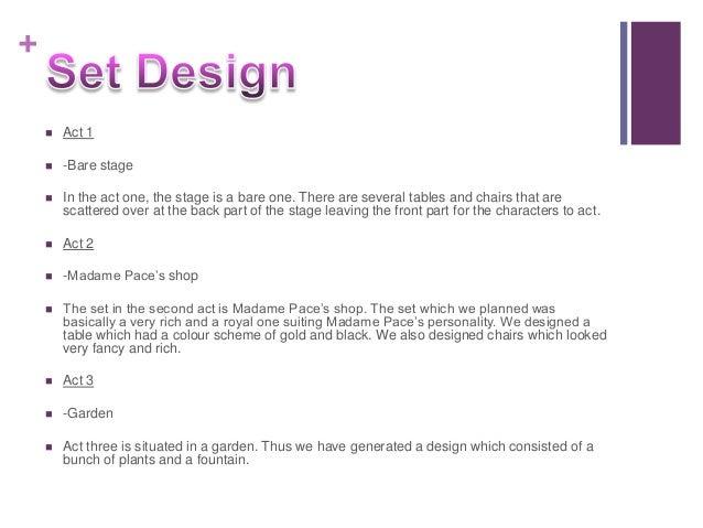 set design drama essay