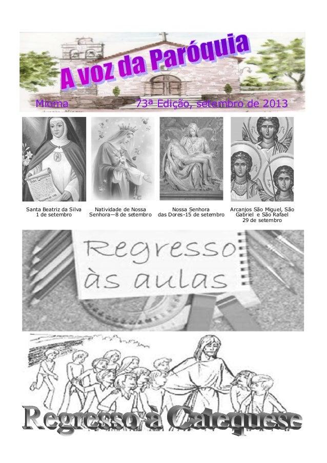 Mioma 73ª Edição, setembro de 2013Mioma 73ª Edição, setembro de 2013Mioma 73ª Edição, setembro de 2013 Santa Beatriz da Si...