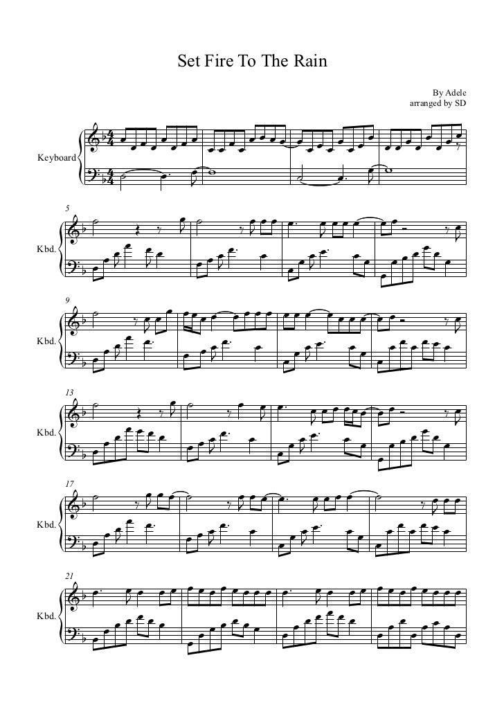 adele set fire to the rain piano sheet music - Heart.impulsar.co