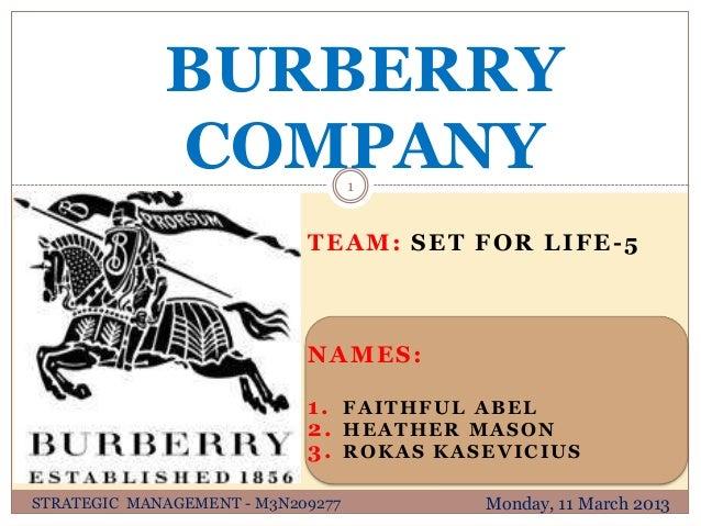 BURBERRY             COMPANY               1                            TEAM: SET FOR LIFE-5                            NA...