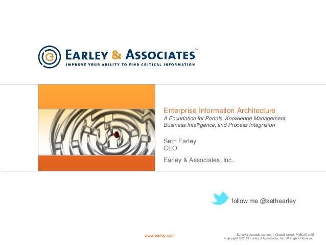 Earley & Associates, Inc.   Classification: PUBLIC USE Copyright © 2013 Earley & Associates, Inc. All Rights Reserved. www...