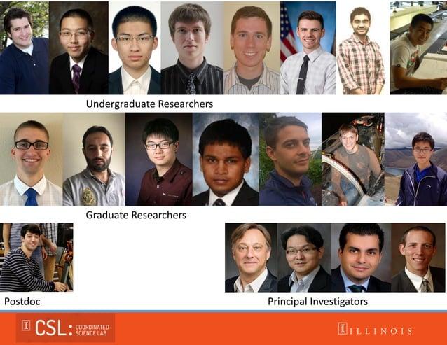 Undergraduate Researchers Graduate Researchers Principal InvestigatorsPostdoc
