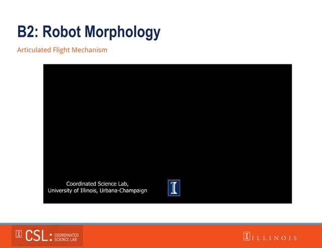 B2: Robot Morphology Articulated Flight Mechanism