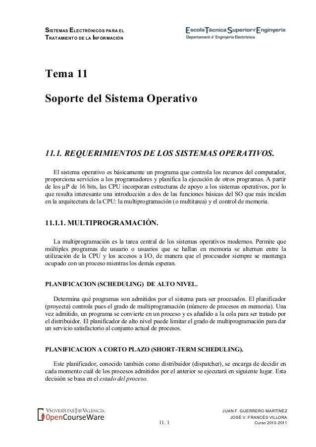 SISTEMAS ELECTRÓNICOS PARA EL TRATAMIENTO DE LA INFORMACIÓN 11. 1 JUAN F. GUERRERO MARTÍNEZ JOSÉ V. FRANCÉS VILLORA Curso ...