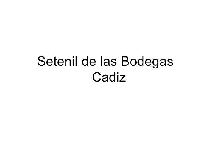 Set e nil  de las Bodegas  Cadiz