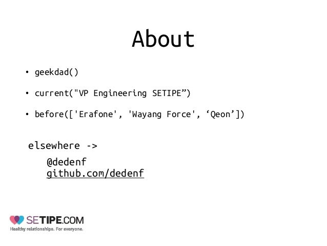 How To Become a Match Maker For Your Backend by Deden Fathurahman (Setipe) Slide 2