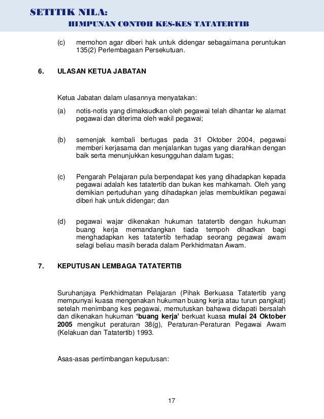 Contoh Surat Representasi Tata Tertib