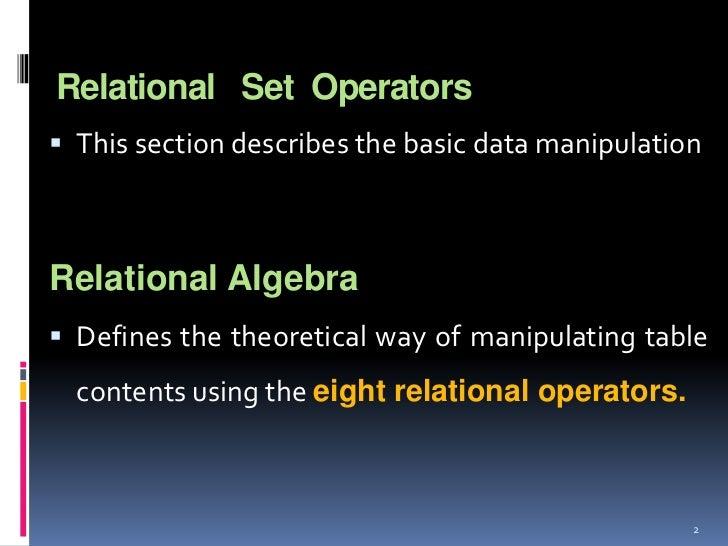 Set  operators Slide 2