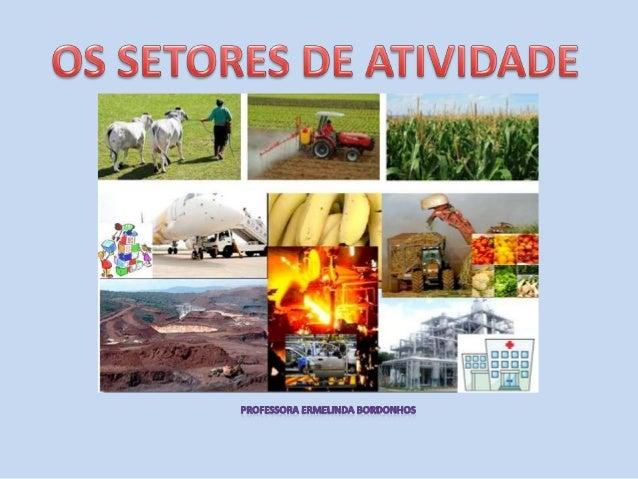 Setor de atividade – conjunto de atividades produzembens ou prestam serviços, a que a população se dedica.Existem três set...