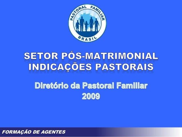 FORMAÇÃO DE AGENTES
