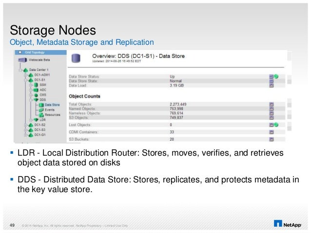 Object, Metadata Storage and Replication Storage Nodes  LDR - Local Distribution Router: Stores, moves, verifies, and ret...