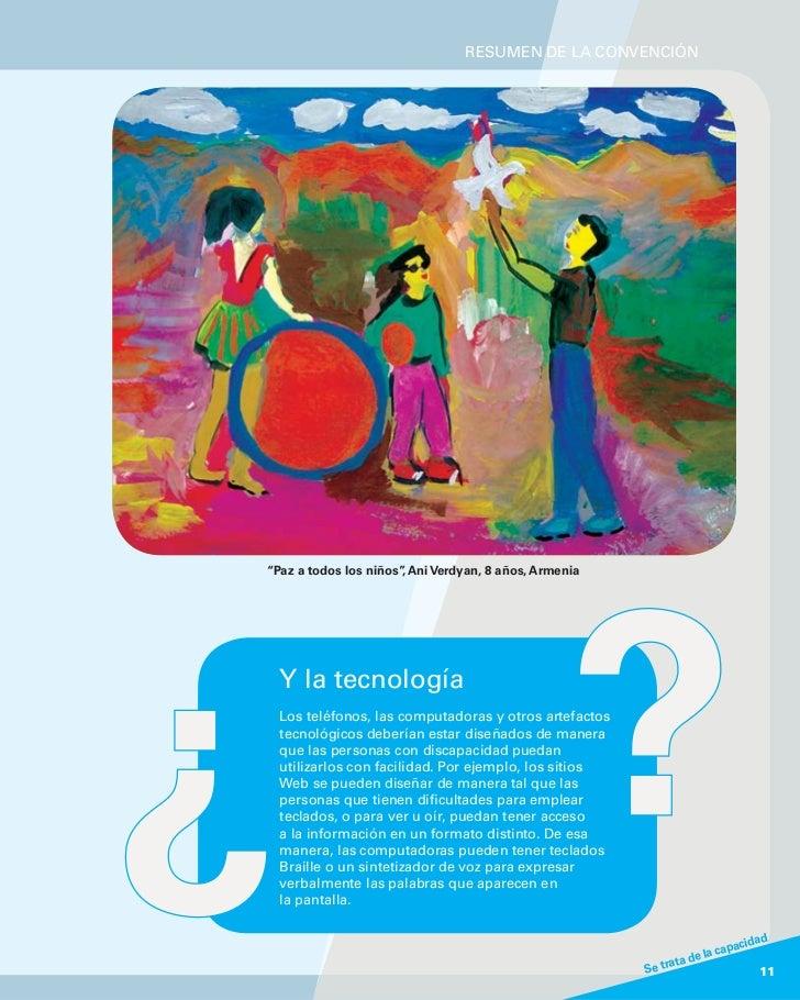 """RESUMEN DE LA CONVENCIÓN""""Paz a todos los niños"""" Ani Verdyan, 8 años, Armenia                      ,  Y la tecnología  Los ..."""