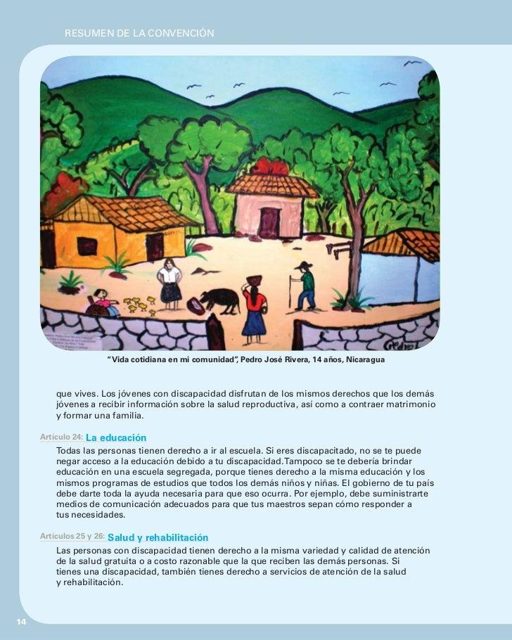 """RESUMEN DE LA CONVENCIÓN                          """"Vida cotidiana en mi comunidad"""" Pedro José Rivera, 14 años, Nicaragua  ..."""