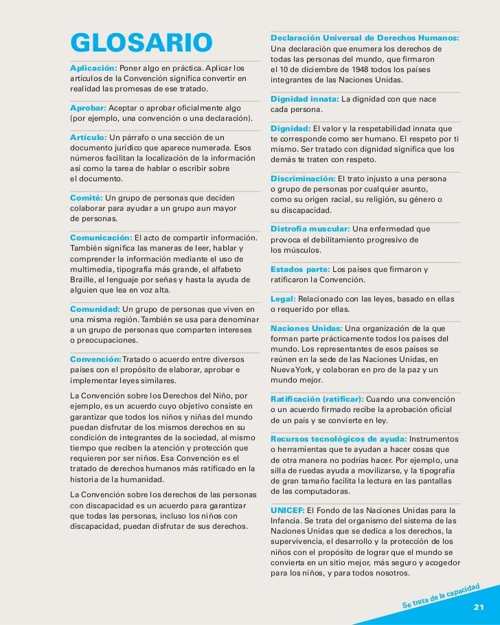 GLOSARIO                                              Declaración Universal de Derechos Humanos:                          ...
