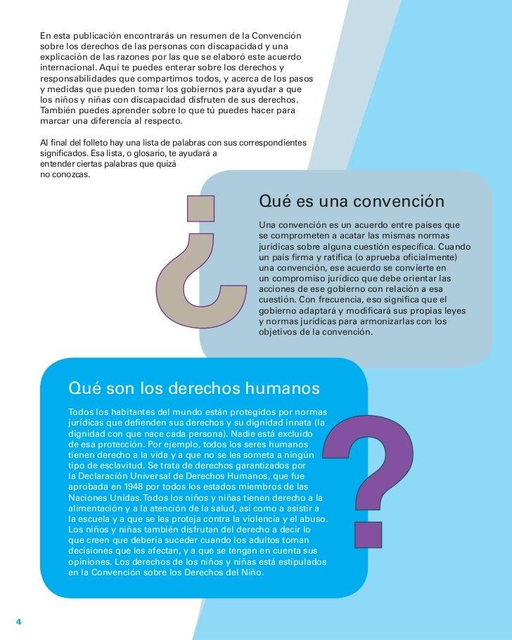 En esta publicación encontrarás un resumen de la Convención    sobre los derechos de las personas con discapacidad y una  ...