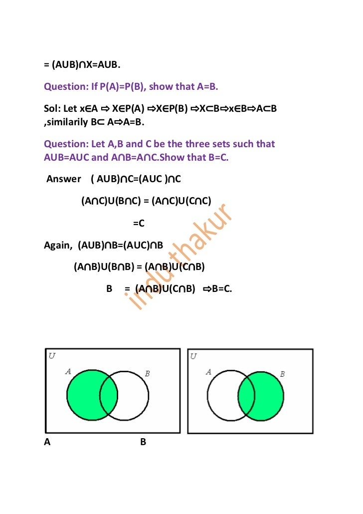 Auc N Aub Venn Diagram Block And Schematic Diagrams