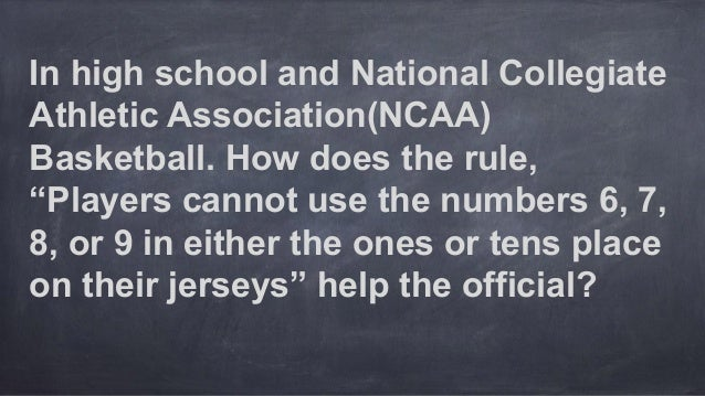 """In high school and National Collegiate Athletic Association(NCAA) Basketball. How does the rule, """"Players cannot use the n..."""