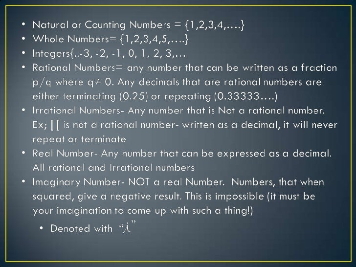 N- NaturalNumbers                                                      AllW- Whole Numbers                                ...