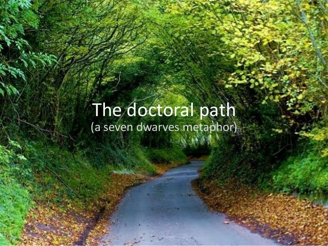 The doctoral path (a seven dwarves metaphor)