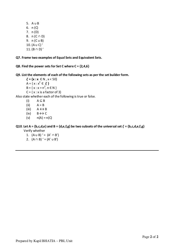 Printable Worksheets grade 1 theory worksheets : Set theory - worksheet
