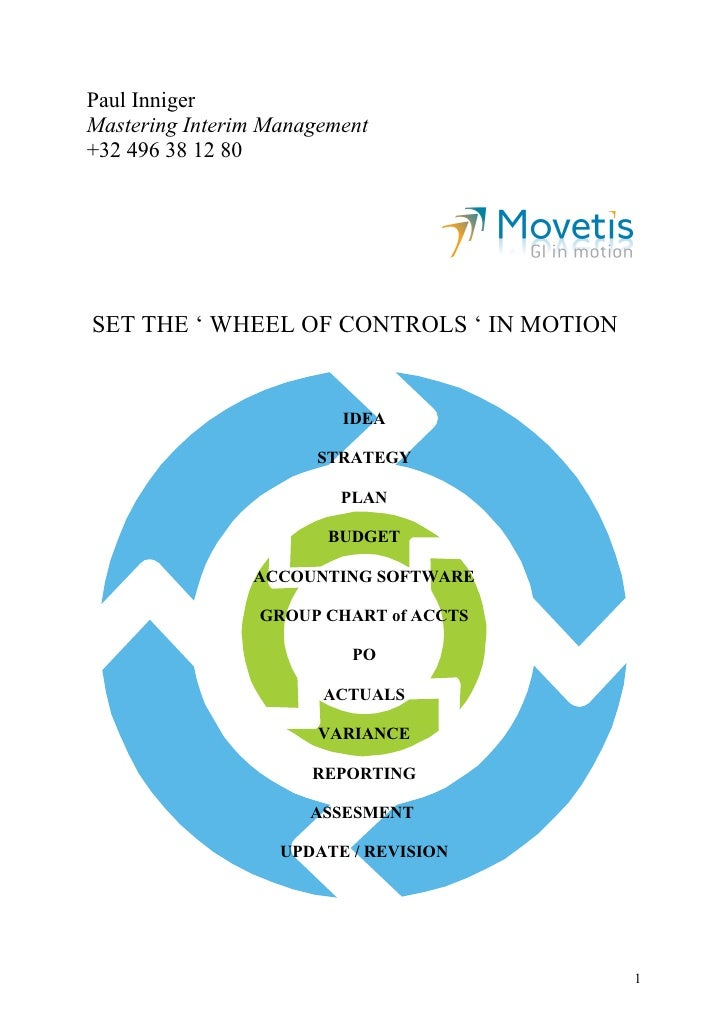 Paul InnigerMastering Interim Management+32 496 38 12 80SET THE ' WHEEL OF CONTROLS ' IN MOTION                         ID...