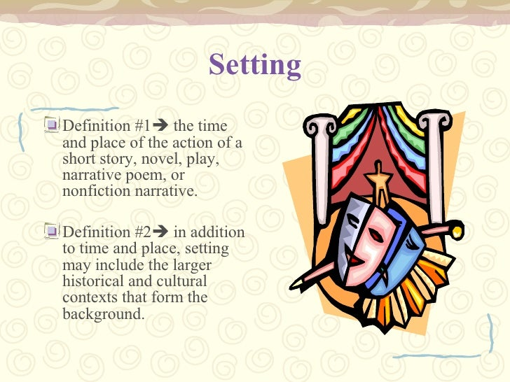define setting in literature