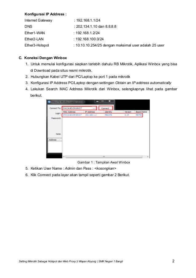 Web proxy mikrotik hotspot