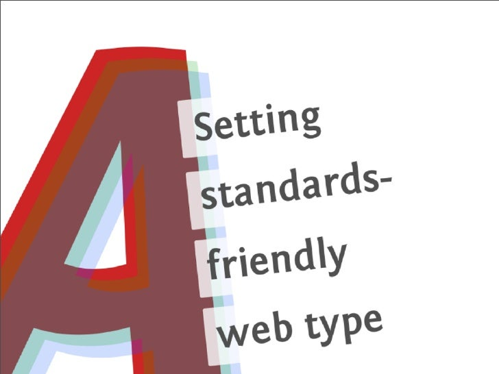 Setting standards-friendly web type