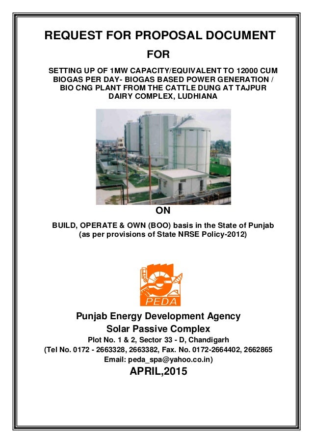 RfP for 1MW CAPACITY/12000 CUM BIOGAS PER DAY USING CATTLE DUNG AT TA…