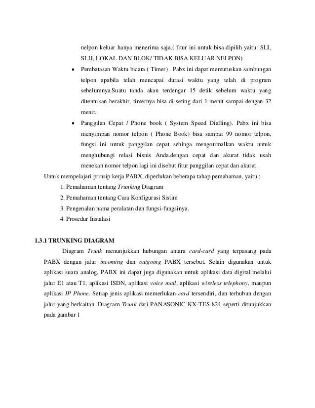Setting 2 unit pabx kx tes824 4 nelpon ccuart Images