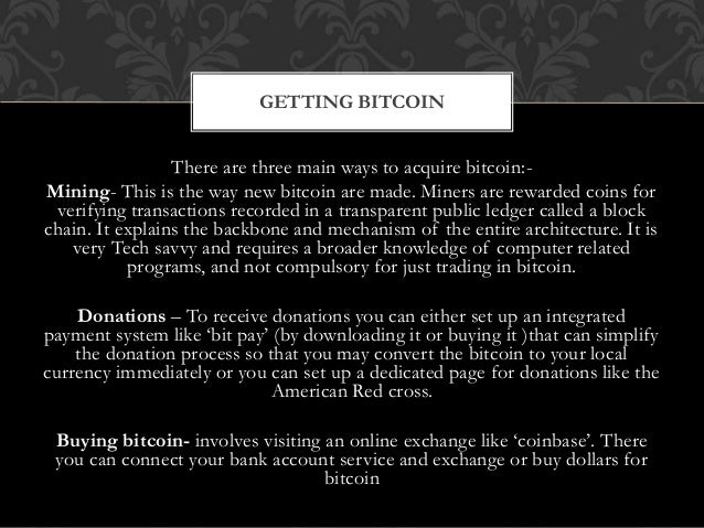 Setting and acquisition of bitcoin donations bitcoin choosing a wallet 8 ccuart Gallery