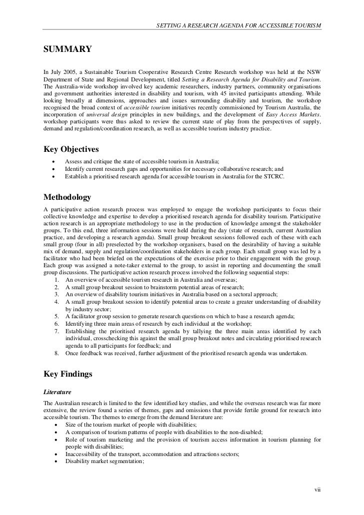 Sample Research Agenda  Resume Template Sample