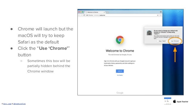 Setting Chrome as the Default Browser